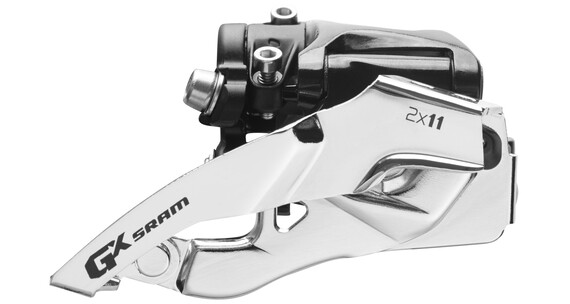 SRAM GX Umwerfer 2x11-fach Low Clamp Top Pull schwarz/silber